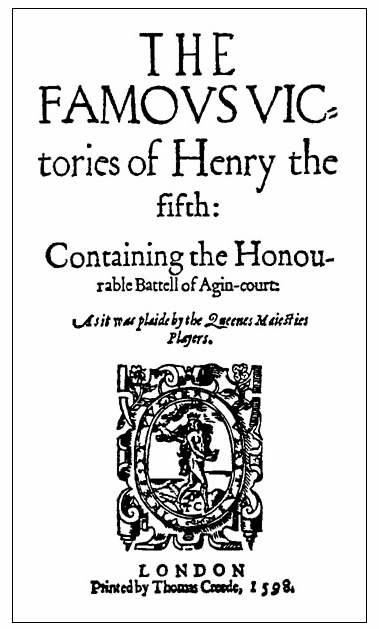 FAMOVS VICTORIES of HENRY THE FIFTH