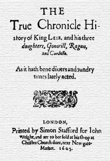 King Leir – Anonymous – printed 1605