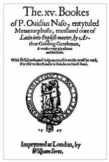 Ovid's Metamorphoses Main Page
