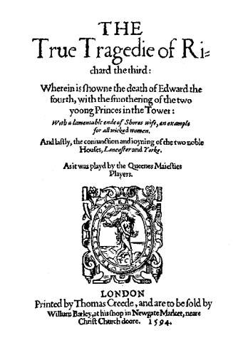 True Tragedy of Richard III-modern text version